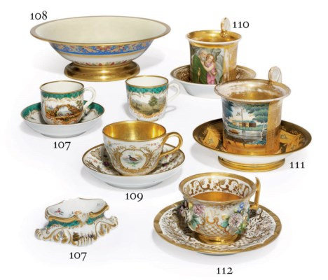 A Porcelain Cup And Saucer