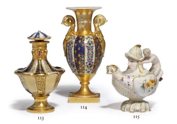 A Very Rare Porcelain Covered