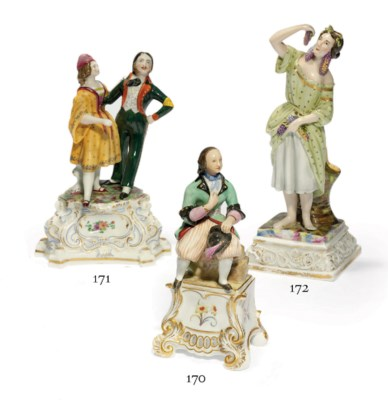 A Porcelain Group Of A Dancing
