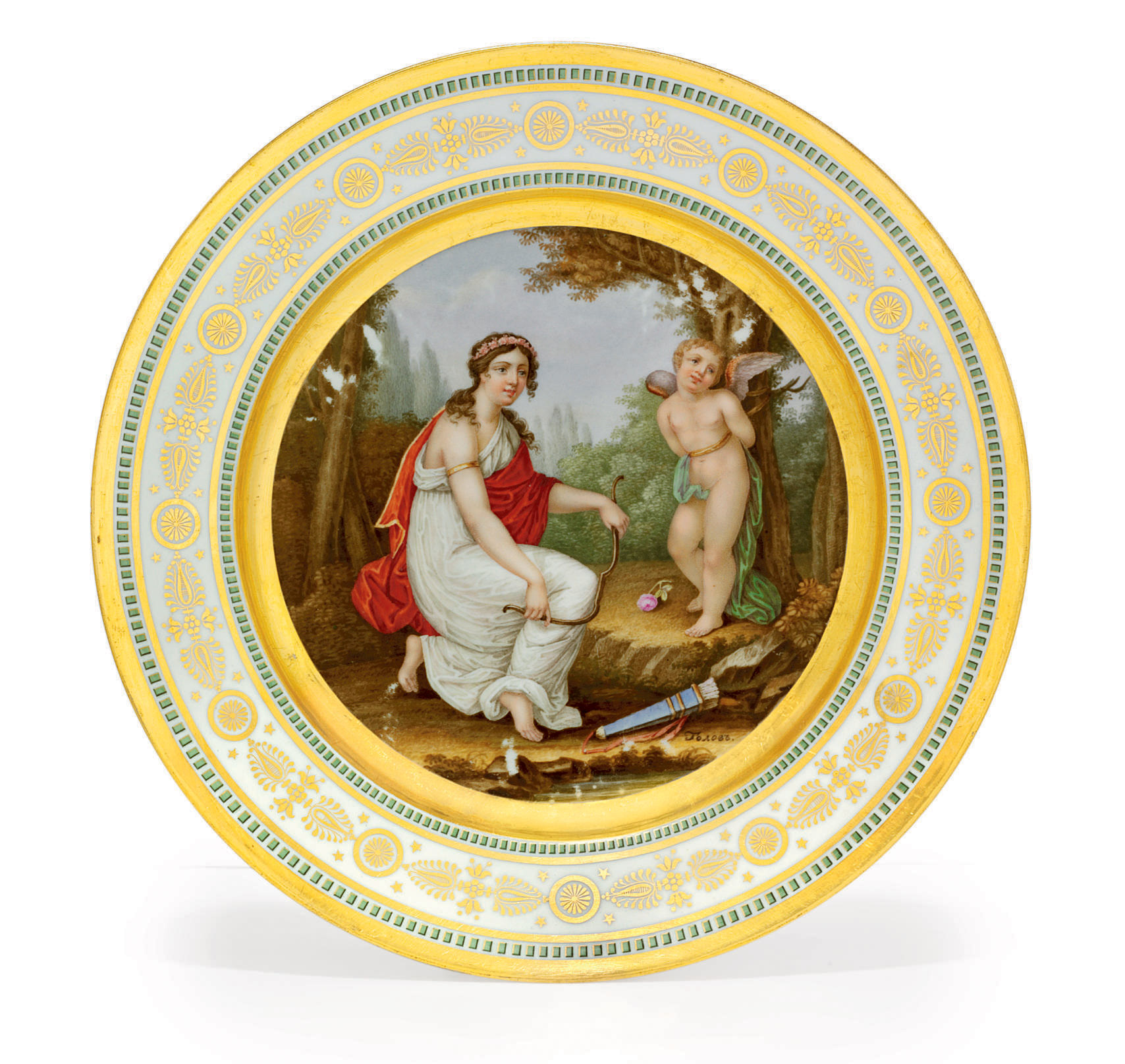 A Porcelain Plate from the Mik