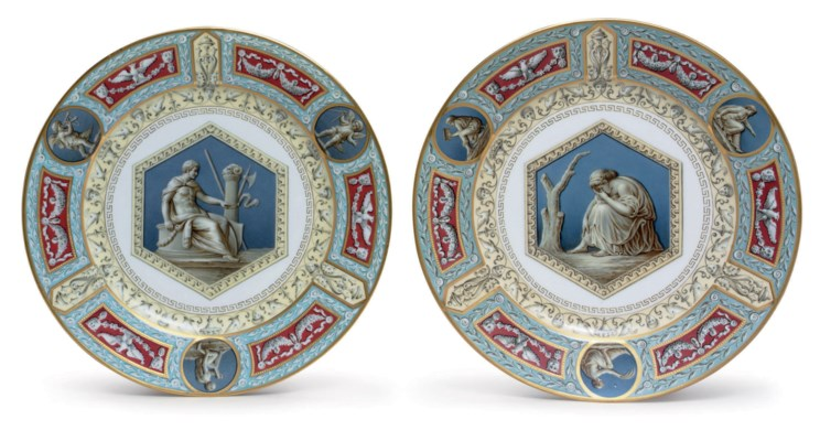 Two Porcelain Plates from the