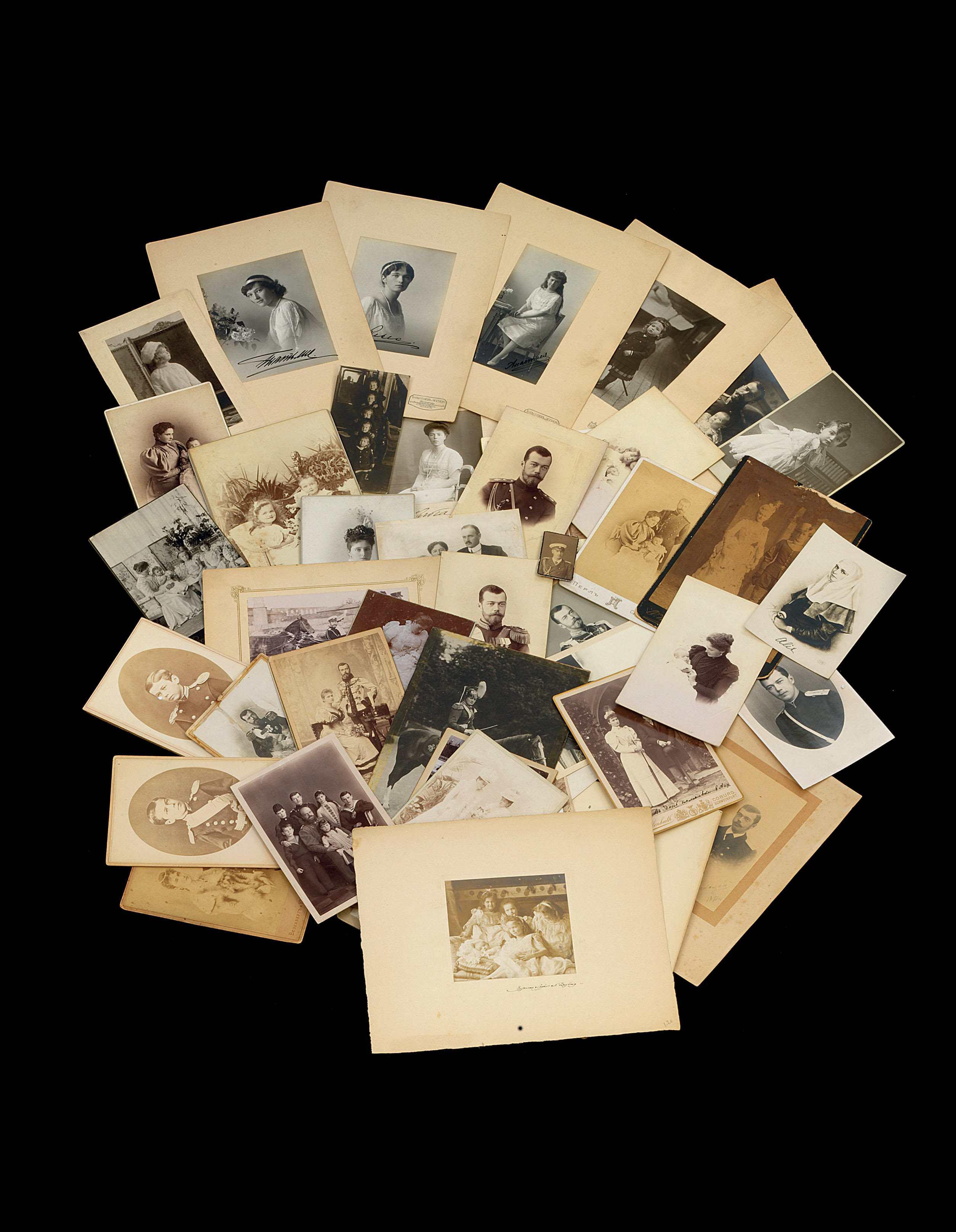 A large group of photographs d