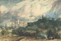 Warwick Castle from the Kenilworth Road, Warwickshire