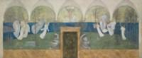 A preparatory painting for Les Muses inspiratrices acclament le Génie, Messager de Lumière in the Boston Public Library