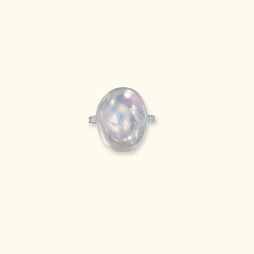 A NATURAL PEARL RING
