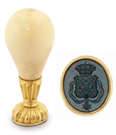 A CONTINENTAL GOLD-MOUNTED HOR