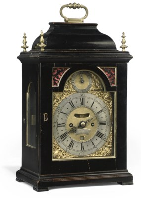 A GEORGE II SMALL EBONISED AND