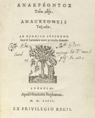 ANACREON (?572-?488 BC), and o