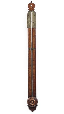 A QUEEN ANNE WALNUT STICK BARO