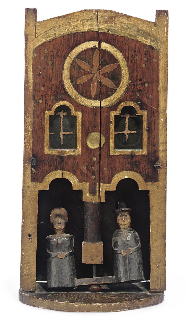 A VICTORIAN PAINTED WOOD WEATH