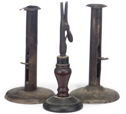 A GEORGE III WROUGHT-IRON AND