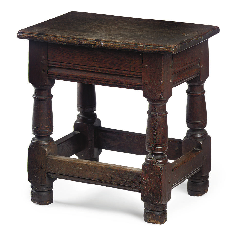 A CHARLES II SMALL OAK JOINED
