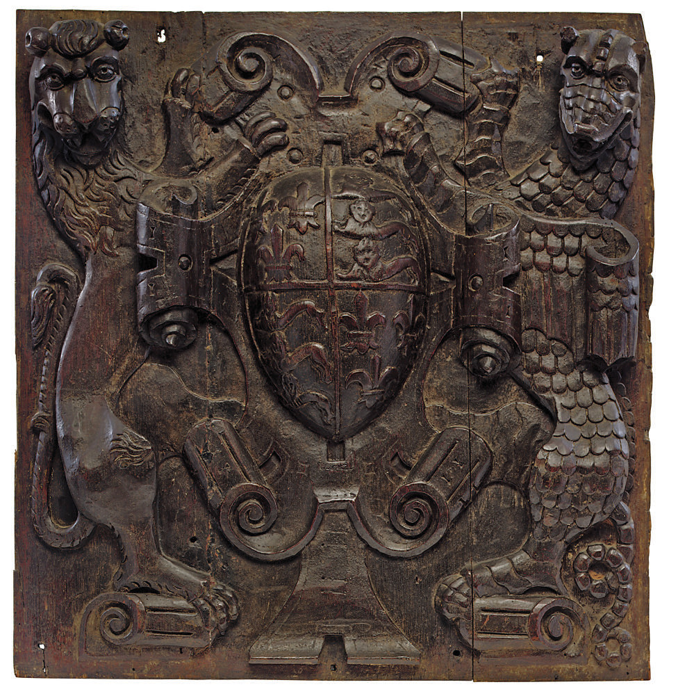 A HENRY VIII CARVED OAK RELIEF