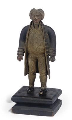 A GEORGE III PAINTED WOOD FIGU