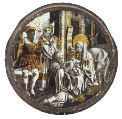 A NETHERLANDISH SILVER-STAINED