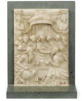 A MALINES ALABASTER RELIEF OF