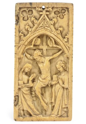 A FRENCH IVORY RELIEF PANEL OF