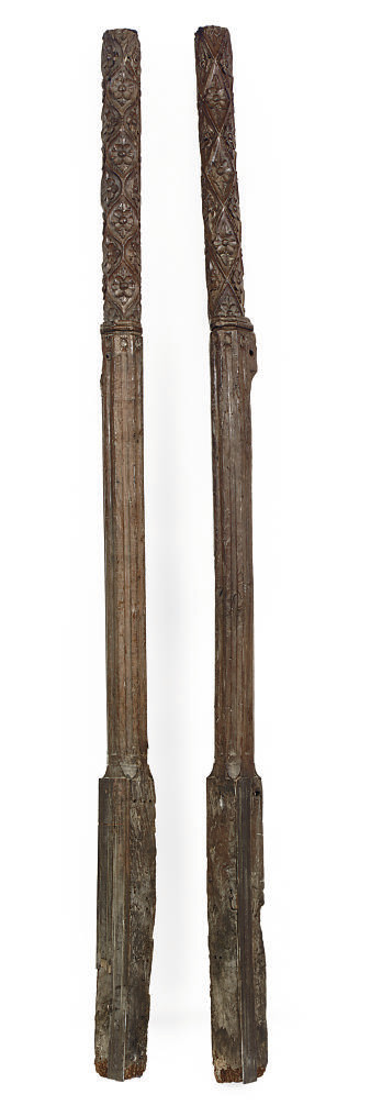 A PAIR OF HENRY VIII CARVED OA