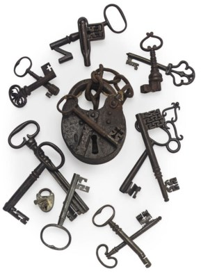 A COLLECTION OF THIRTEEN IRON