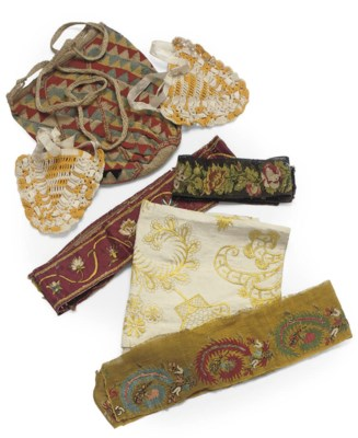 A COLLECTION OF CREWELWORK AND