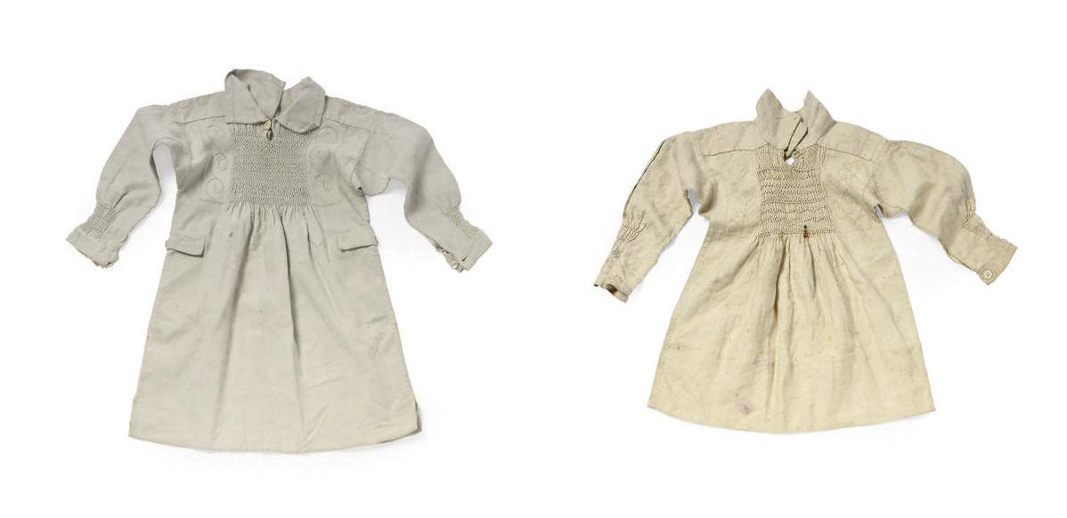 FIVE COTTON COUNTRY SMOCKS