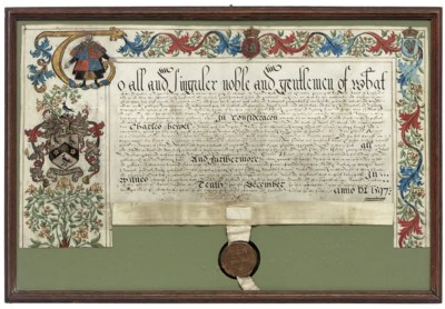 GRANT OF ARMS to Charles Hewet