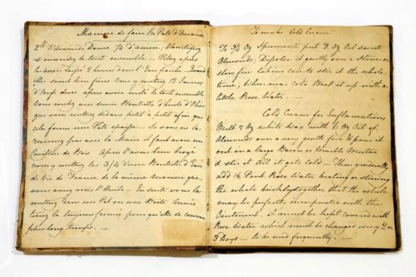 RECEIPT BOOK. Manuscript on pa