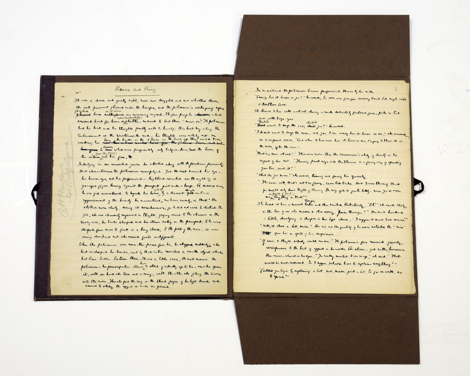 AUTOGRAPH COLLECTION. A collection of six autograph letters and manuscripts by 19th and 20th Century British authors, comprising: