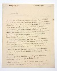 DIDEROT, Denis (1713-1784). Autograph letter signed to an unidentified correspondent [Monsieur d'Hornoy?], n.p., 'ce jeudi, je ne scais quel jour du mois d'aoust, le lendemain de la vierge' [i.e. 16 August] 1781, 2 pages, 8vo.