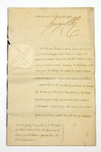 GEORGE IV (1762-1830), King of the United Kingdom of Great Britain and Ireland. Three documents signed (as Prince Regent, 'George PR'), Carlton House, 30 November 1813 - 27 December 1815, warrants for affixing the great seal to the ratifications of an additional article to the 'Treaty of Concert between His Majesty and The King of Sweden' [the treaty of Orebro], of the 'Treaty of Defensive Alliance between His Majesty and the Emperor of Austria' [the treaty of Chaumont], and of the 'Treaty of Alliance between His Majesty and the Emperor of all the Russias' [treaty of Paris], with transcripts of the texts concerned, countersigned by Robert Stewart, 2nd Marquis of Londonderry, as Viscount Castlereagh (2) and Henry, 3rd Earl Bathurst (one), 43 pages, folio, separately stitched with blue or black ribbon, papered seals (some yellowing to outer leaves). Provenance: Phillips, 22 March 1990, lots 106-108.  (3)