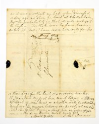 JENNER, Edward (1729-1823). Autograph letter signed ('Edw. Jenner') to Dr Brown (in Gloucester), n.p., 7 April 1821, 4 pages, 4to, on a bifolium, integral address panel, docketed by recipient.