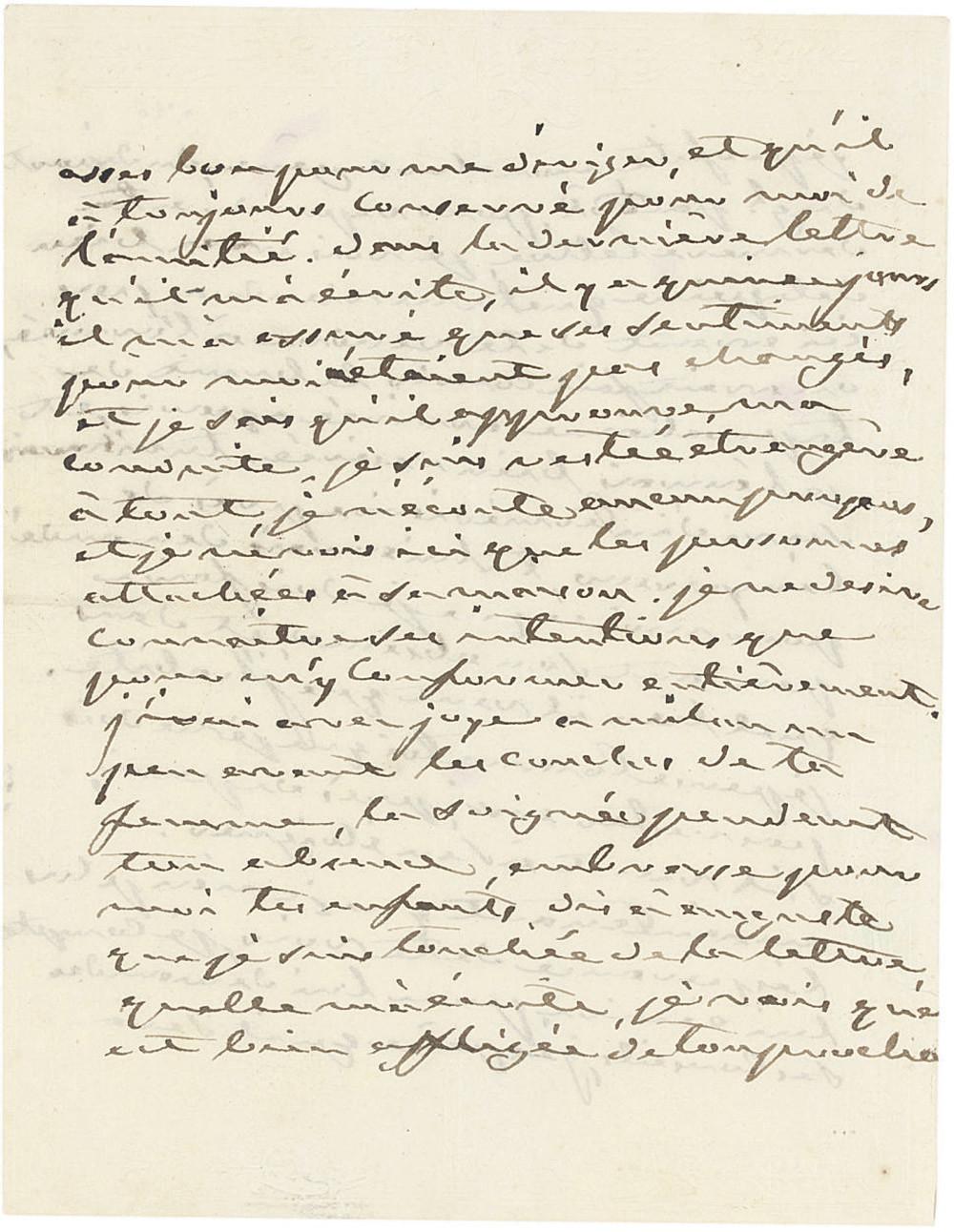 JOSEPHINE (1763-1814), Empress of Napoleon I. Autograph letter signed ('Josephine') to Eugène de Beauharnais (her son), Malmaison, 22 March [1812], 3 pages, 8vo, on a bifolium.