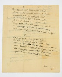 LAMB, Charles (1775-1834). Autograph manuscript, a poem, 'For Newark's seat Three Orators contend', n.d. [July 1830], a neat copy with one autograph emendation, 30 lines on 2 pages, 4to.