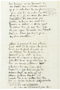 SADE, Donatien Alphonse François, Marquis de (1740-1814). Autograph letter signed (with a complicated and untranslatable pun on his obsession with embassies, 'Et aportes des bas au nom de dieu  Car il est bien mal en bas, sade'), to his wife ('ma chere amie'), n.p. [Vincennes], n.d. [February 1784], 4 pages, 8vo.