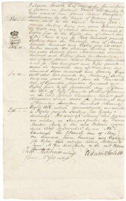 SMITH, Adam (1723-1790). Docum