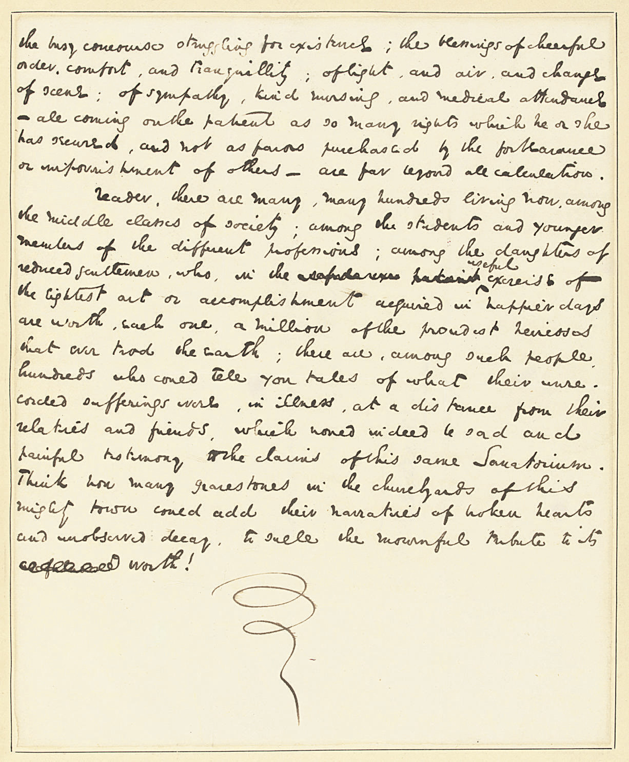 DICKENS, Charles. Autograph ma