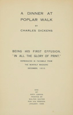 [DICKENS, Charles, contributor