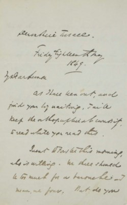 DICKENS, Charles. Autograph le