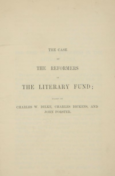 DICKENS, Charles. The Case of
