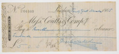 DICKENS, Charles. Autograph 'M