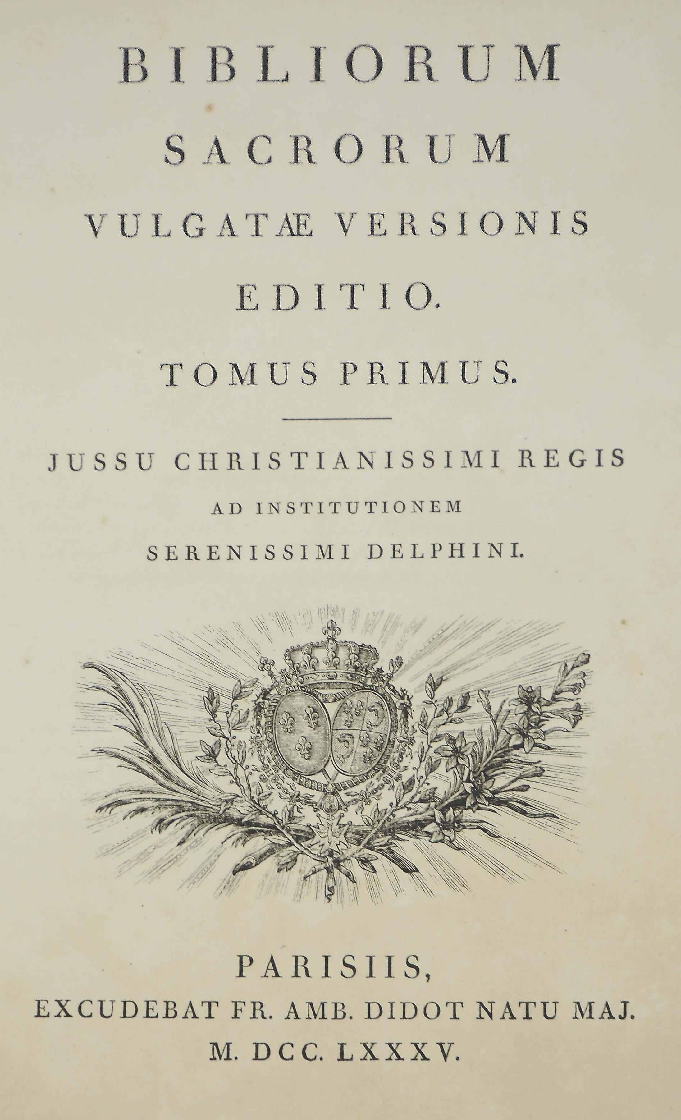 BIBLIA LATINA -- Bibliorum Sac