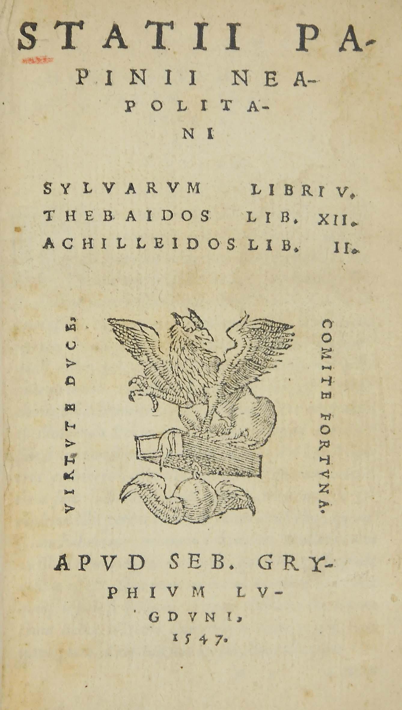 BINDING -- STATIUS, Publius Pa