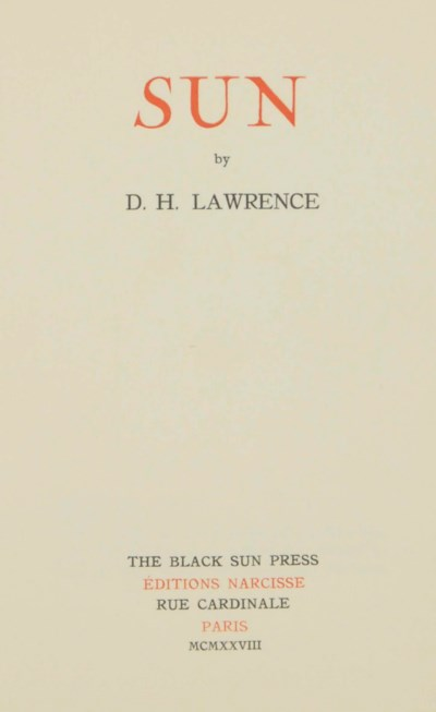 LAWRENCE, D.H. (1885-1930). Su