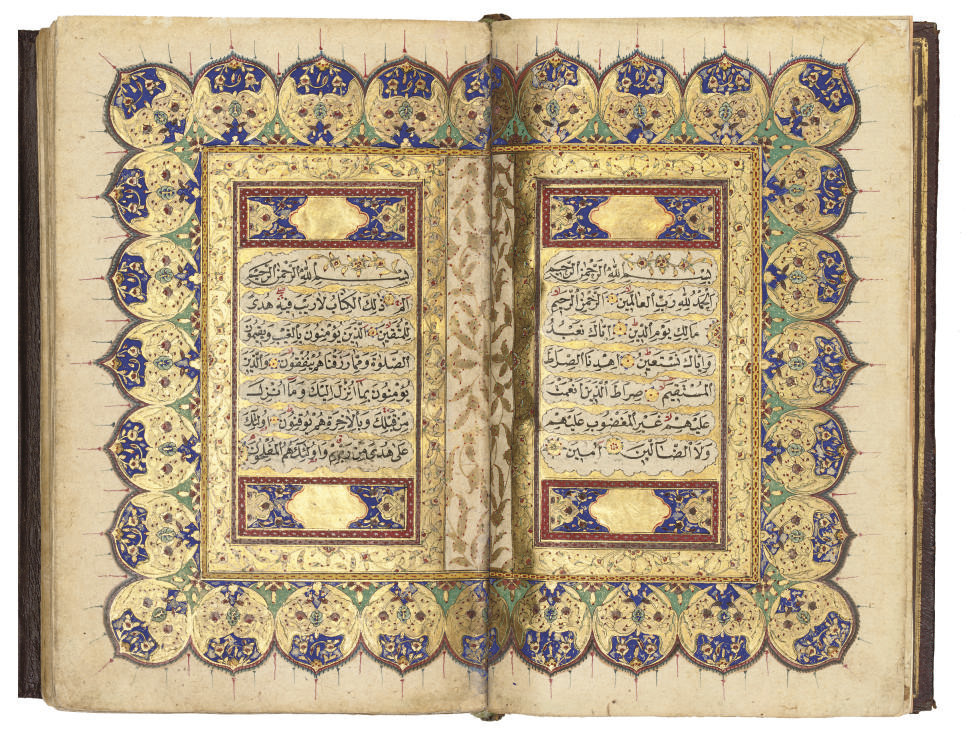 AN OTTOMAN QUR'AN SIGNED AHMED