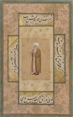 A PORTRAIT OF A SHEIKH WITH CA