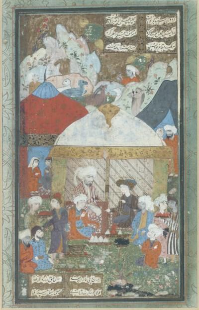 A CAMP SCENE, SAFAVID IRAN, 16