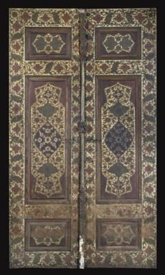 A PAIR OF QAJAR DOORS, IRAN, 1