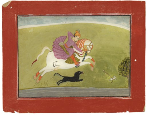 A PRINCE HUNTING, BILASPUR, IN