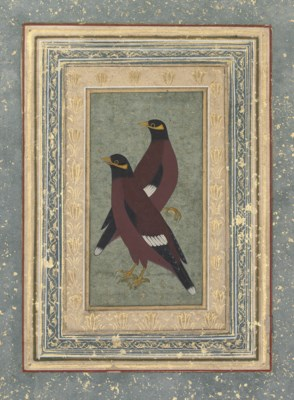 A PAIR OF BIRDS, MUGHAL INDIA,