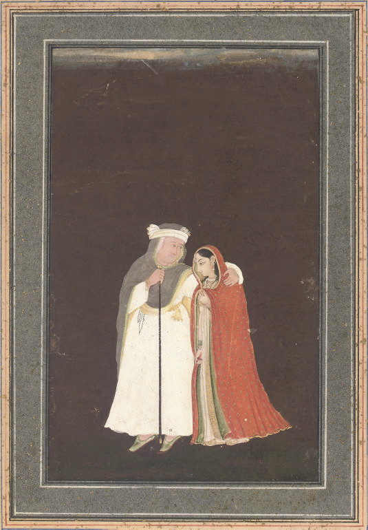 A YOUNG WOMAN AND A MONK, PROV